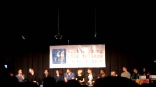 Iqbal Theba, Max Adler, Dean Geyer, Dot Marie Jones intro YSF Biggest Show 2012