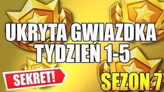 UKRYTA GWIAZDKA TYDZIEŃ 1-5 SEZON 7 FORTNITE (SEKRETNA GWIAZDKA) Hidden Battle Star Week 5 Season 7