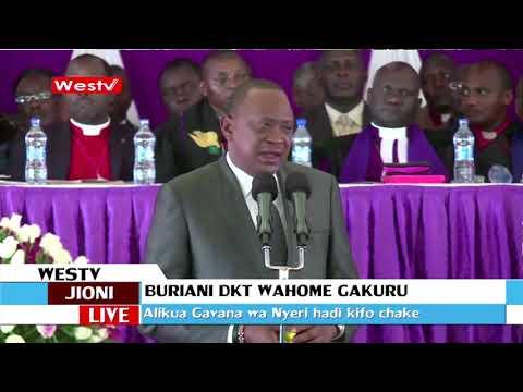 Mazishi ya aliyekuwa gavana wa Nyeri Dakta Wahome Gakuru