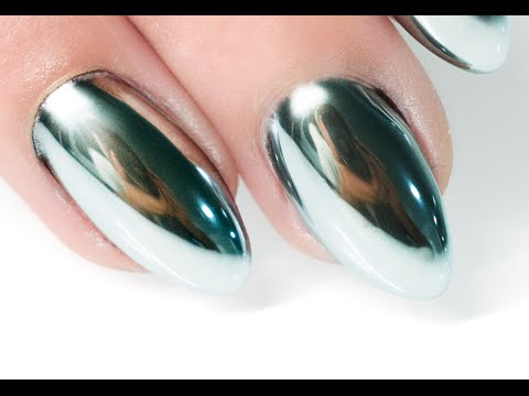 MIRROR POWDER NAILS Step by Step - Nails 21