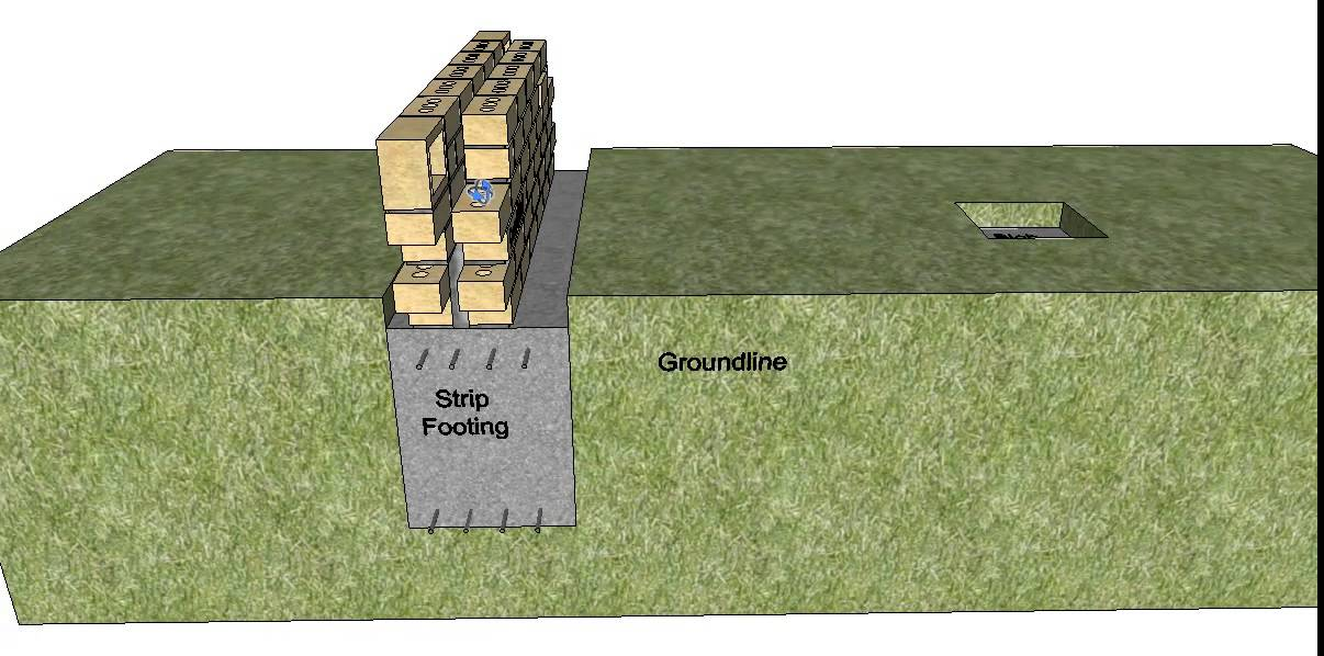 Double Wall Construction Building : Section through a double brick building part youtube