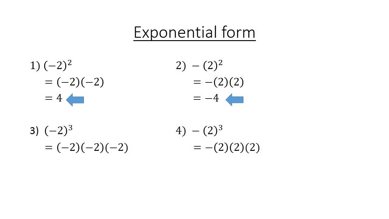 1 Exponential form - YouTube