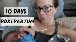 10 Days Postpartum || Day in the Life with a Newborn & Toddler