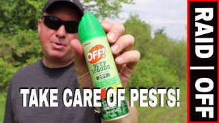 BE READY FOR THE PESTS THIS SPRING USING DEEP WOODS OFF & RAID!