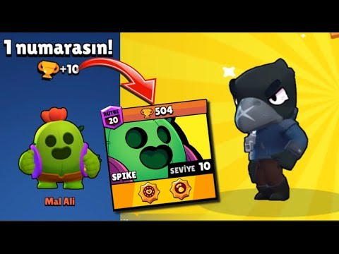 Son Kutudan CROW Çıktı! 500+ SPİKE Gameplay! Brawl Stars