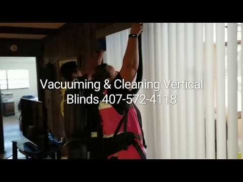 Vacuuming & Cleaning Vertical Blinds
