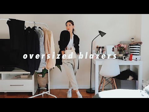 STYLING: OVERSIZED BLAZERS | 6 outfit ideas - YouTube