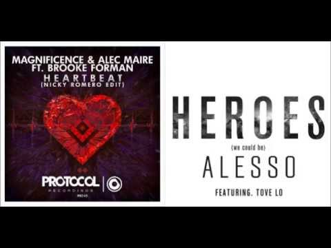 Magnificence, Alec Maire & Nicky Romero vs Alesso - Heroes in a Heartbeat (Byron Mashup)