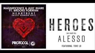 magnificence alec maire nicky romero vs alesso   heroes in a heartbeat byron mashup