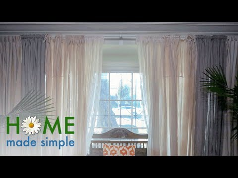 How to Dye Drapes and Curtains with Coffee and Tea | Home Made Simple | Oprah Winfrey Network