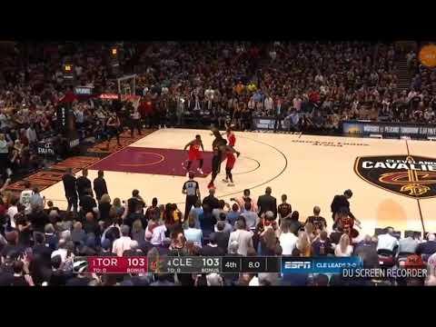Last Minute in Cleaveland Cavaliers vs Toronto Raptors Game 3 / NBA / 2018 / PLAYOFFS