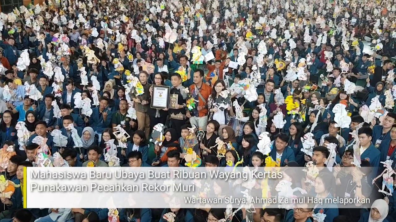 News Video Mahasiswa Baru Ubaya Buat Ribuan Wayang