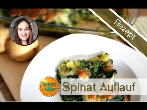 Auflauf Rezept selber machen – Kartoffel Spinat Gratin – vegetarisch, gesund, einfach