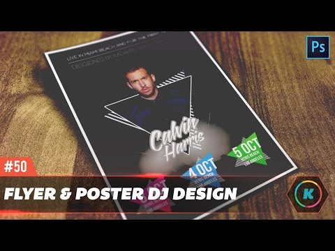 Dope Dj / Party & Club Flyer Design Tutorial - ♕ Photoshop Tutorial ♕ -✮ Part 1✮