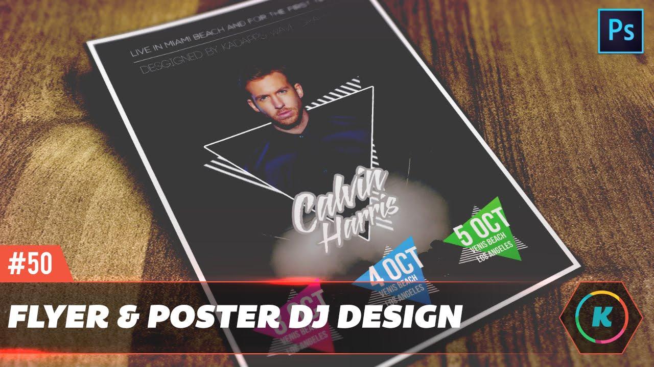 dope dj party club flyer design tutorial photoshop tutorial