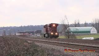 SP Trains #928 Running Backwards     2018-01-10