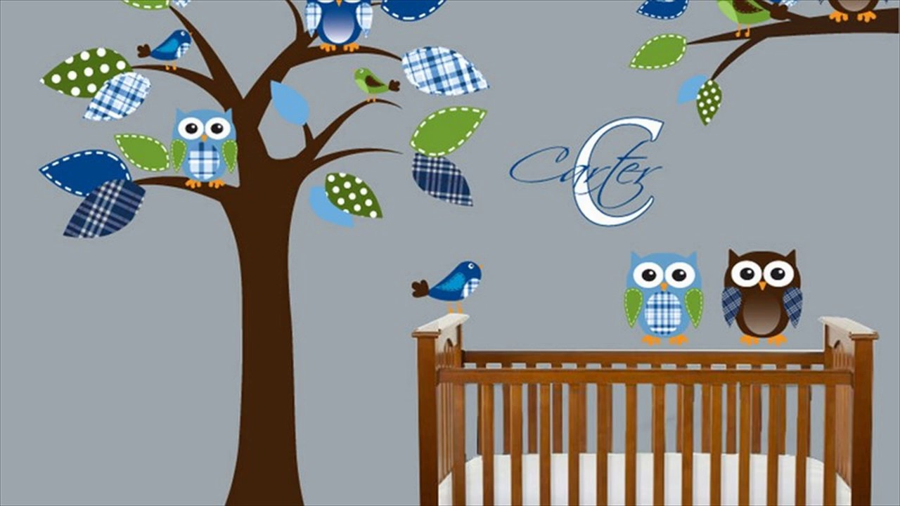 Baby boy room decor stickers - Baby Boy Nursery Wall Decals