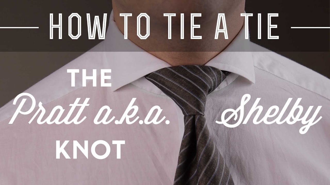 75c49e71aeb04a How To Tie A Pratt a.k.a. Shelby Knot & What Shirt Collar To Wear It With
