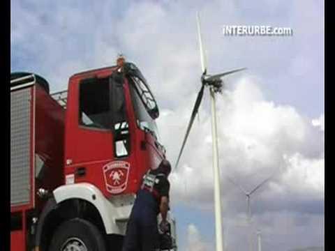 Wind turbine fire in Spain