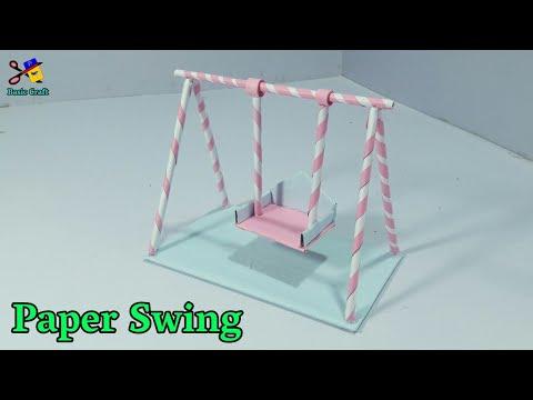 कागज़ का झूला | How To Make A Paper Swing | Jhula For Janamastmi Decoration | जन्माष्टमी सजावटी झूला