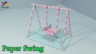 कागज़ का झूला | How To Make A Paper Swing | Jhula For Janamastmi Decoration | जन्माष्टमी सजावटी झूला