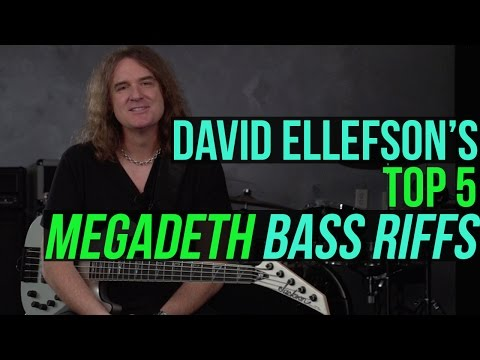 Megadeth's David Ellefson  - Top 5 Megadeth Bass Riffs