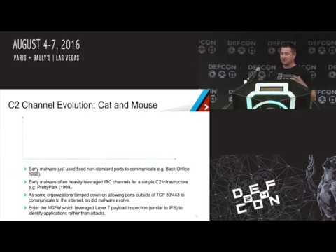 DEF CON 24 - Malware Command and Control Channels - A journey into darkness