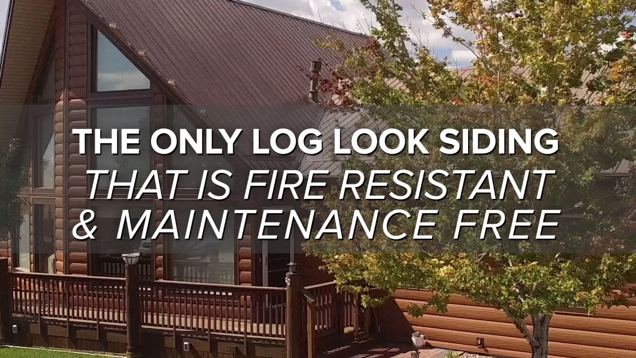 Trulog the only log look siding that is fire resistant for Fire resistant house siding material hardboard