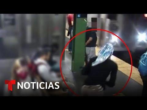 En video: Empujan a una latina contra el metro de Nueva York | Noticias Telemundo