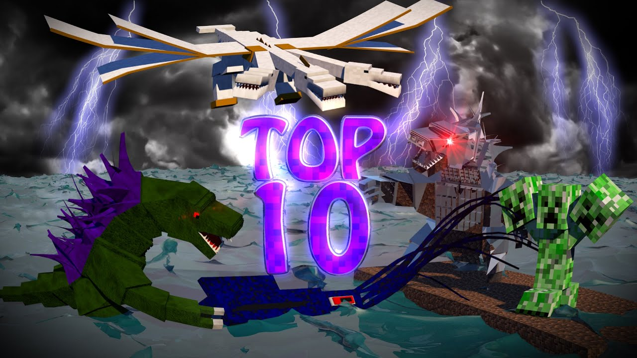 Minecraft TOP 10 Modded Top 10 Bosses Ultimate Bosses