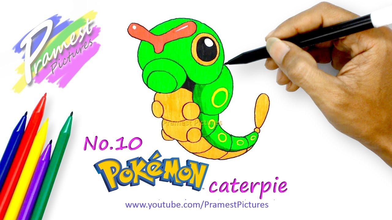 Caterpie Cara Menggambar Dan Mewarnai Gambar Pokemon Untuk Anak