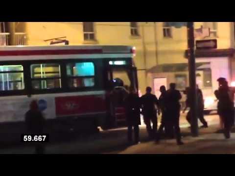 Canada. Police street execution.