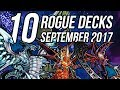 Yu Gi Oh Top 10 Underrated Rogue Decks September 2017 Format mp3