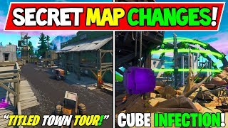 "*NEW* FORTNITE SECRET MAP CHANGES ""Tilted Town All Chests!"" + ""Cube Infection!"" - Season X Storyline"
