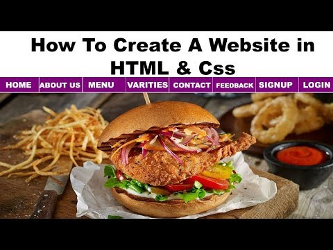 10. Website Making Tutorial | How To Create Website Using HTML And Css,best Restaurant Websites,