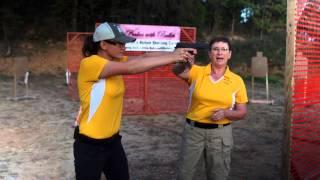 Video Beginner Target Shooting Tip #5: Pistol Grip & Stance - Kay & Lena Miculek - Babes with Bullets download MP3, 3GP, MP4, WEBM, AVI, FLV Juli 2018