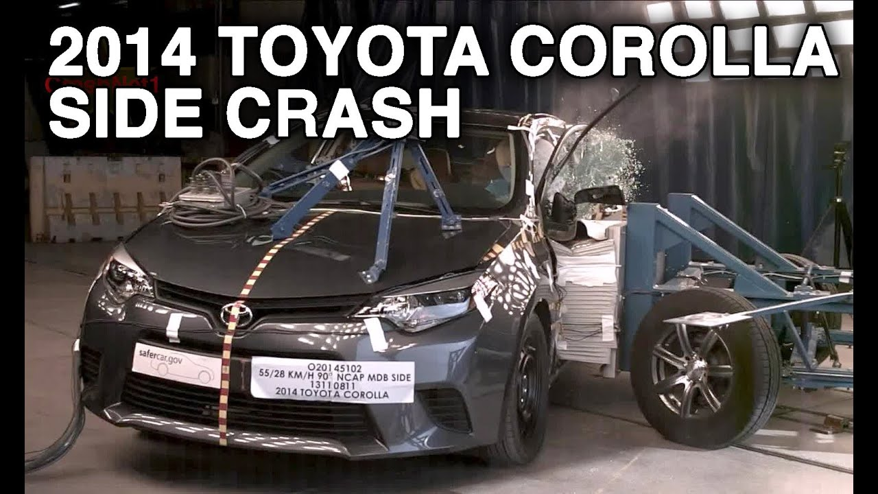2014 toyota corolla side crash test crashnet1 youtube. Black Bedroom Furniture Sets. Home Design Ideas