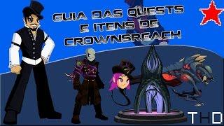 aqwguia das quests e itens de crownsreach 2017