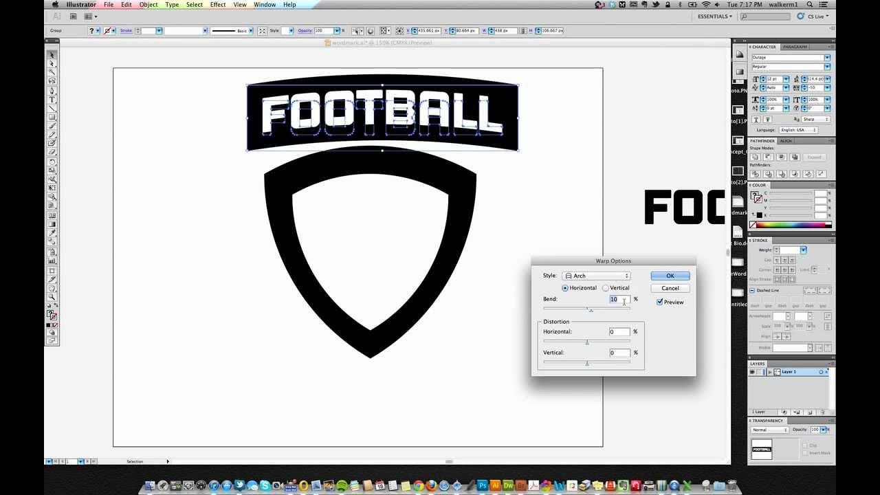 Creating A Basic Shield Logo In Adobe Illustrator