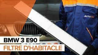 Montage Filtre d'Habitacle BMW 3 (E90) : vidéo gratuit