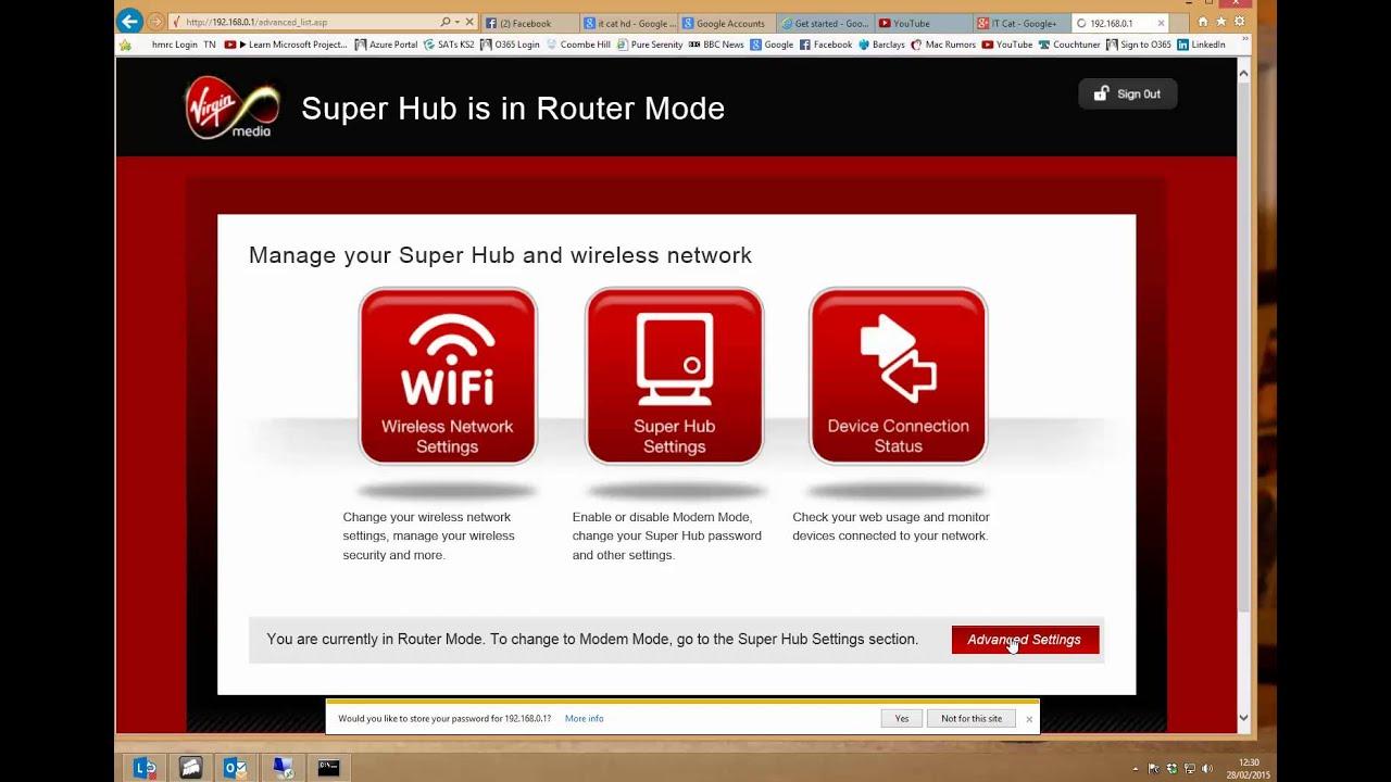 How to enable VPN access through the Virgin Media SuperHub