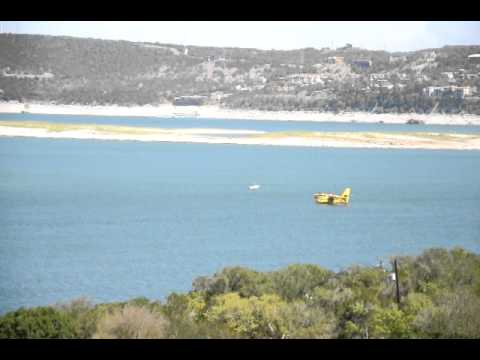 Planes Getting Water At Lake Travis For TX Fires
