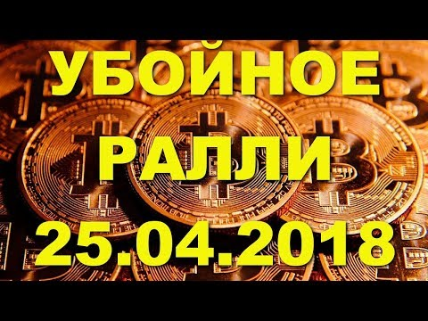 BTC/USD — Биткойн Bitcoin обзор цены / анализ графика цены на 25.04.2018 / 25 апреля 2018 года