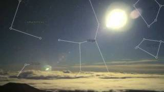 SKYVIEWS   TIMELAPSE  CONSTELLATIONS  DECEMBER 18, 2011