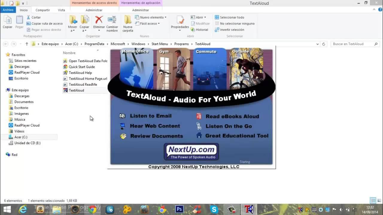 descargar textaloud full en español 6 voces loquendo