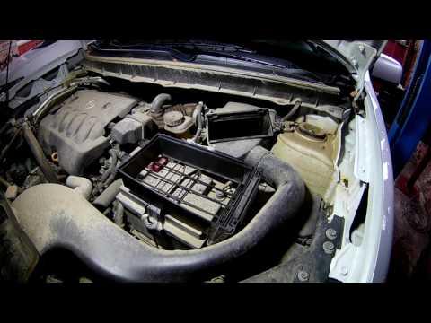 Замена масла и фильтров и сброс сервисного интервала на Ниссан Х трейл 2014 года Nissan X TRAIL
