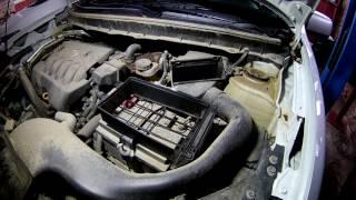 Замена масла и фильтров и сброс сервисного интервала на Ниссан Х-трейл 2014 года  Nissan X-TRAIL
