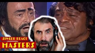 Luciano Pavarotti James Brown - It's A Man's Man's Man's World - REACTION -MATERPIECE