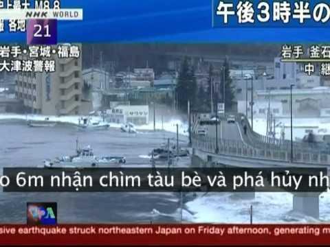 Động đất, sóng thần ở Nhật Bản (VOA)