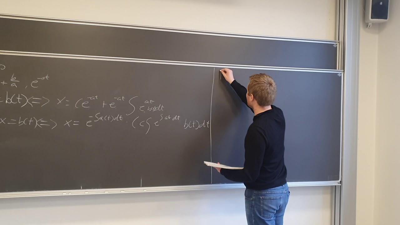 Lineære differentialligninger af første orden